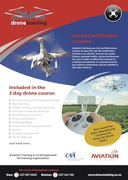 DroneTrainingFlyer - UAV Drone Training New Zealand - 101 & 102 RPAS Courses