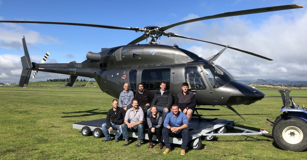 Drone Course Students After A Fly In The Bell 427